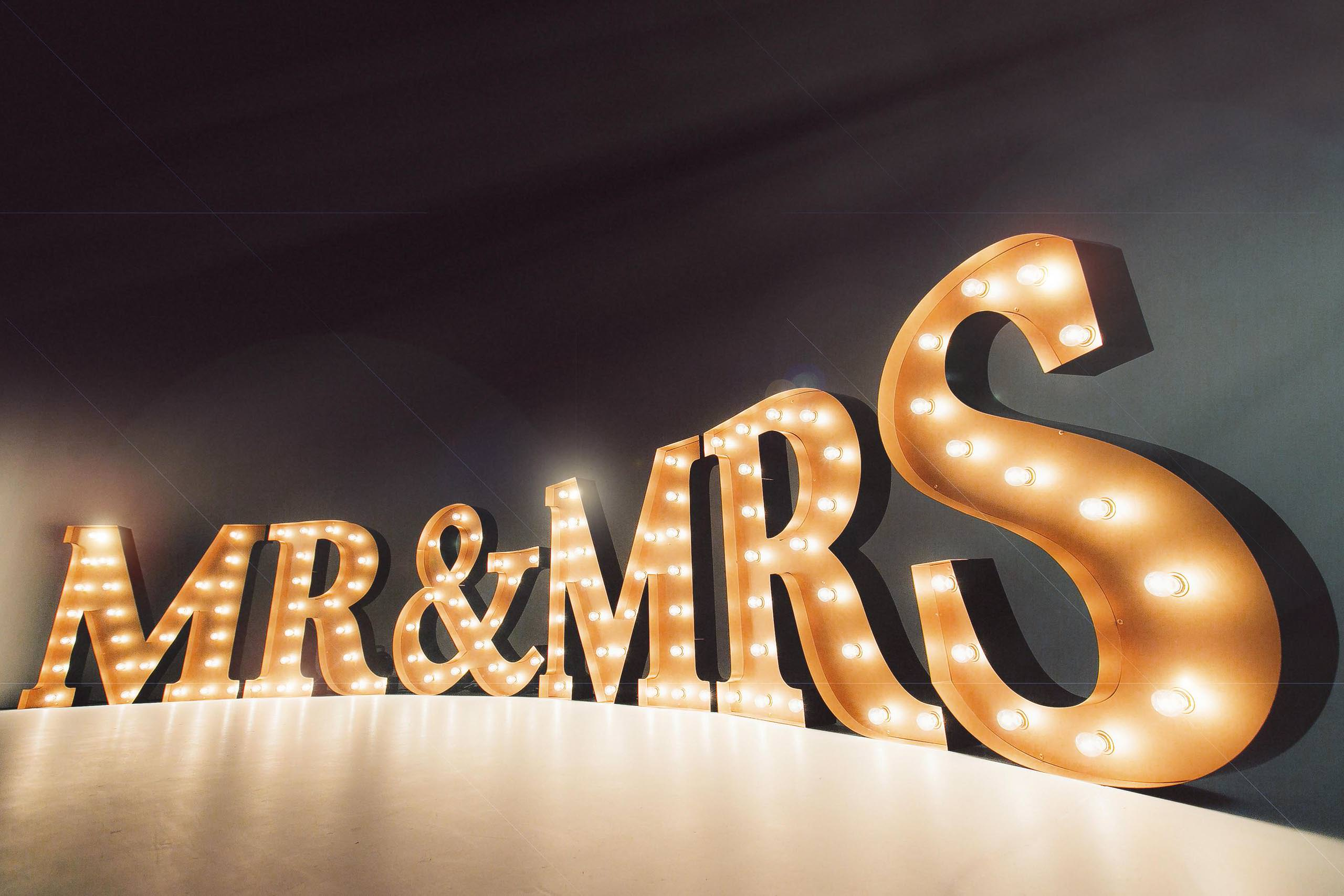 Hire For Your Wedding Event Light Up Love Letter Hire East